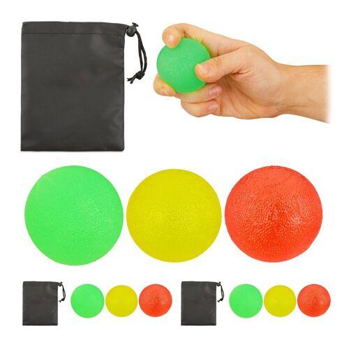 relaxdays Handmuskeltrainer »9 x Fingertrainer Ball«