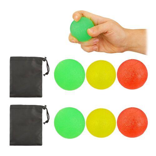 relaxdays Handmuskeltrainer »6 x Fingertrainer Ball«