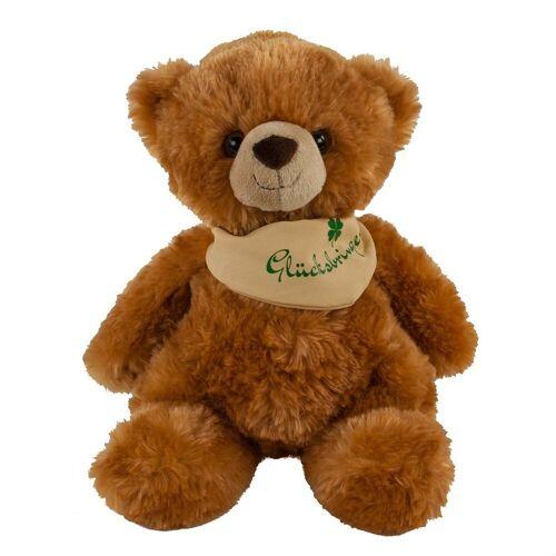 Teddys Rothenburg Kuscheltier »Teddybär 23 cm mit Halstuch Glücksbringer« (Stoffteddybären Teddys Plüschteddybären)