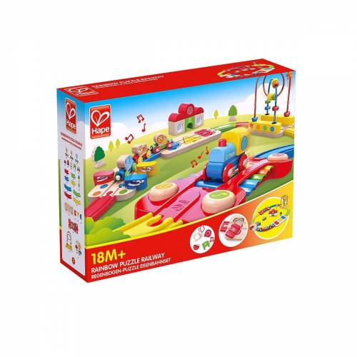 Hape Motorikwürfel »Regenbogen-Puzzle Eisenbahnset«