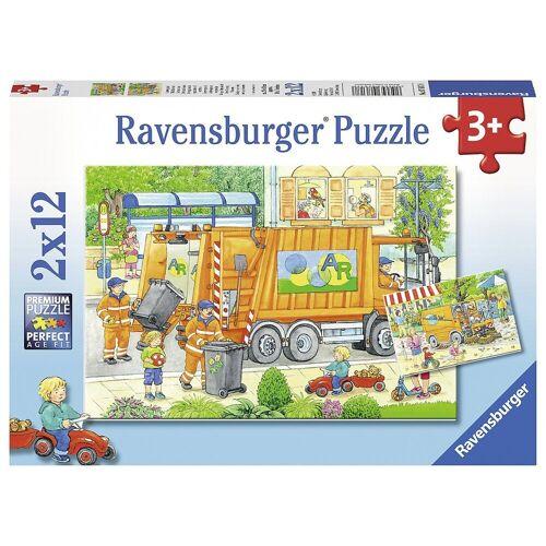 Ravensburger Puzzle »2er Set Puzzle, je 12 Teile, 26x18 cm, Müllabfuhr«, Puzzleteile