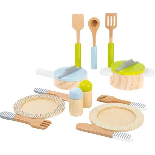 Small Foot Kinder-Küchenset »Kinderküchenset Geschirr-und Topfset«, (13-tlg)