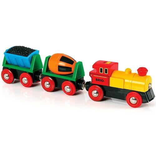 Brio Spielzeug-Eisenbahn »Zug mit Lok und Anhängern (Batteriebetrieb)«