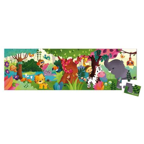 Janod Puzzle »Puzzlekoffer Panorama-Puzzle Dschungel 36 Teile«, 36 Puzzleteile