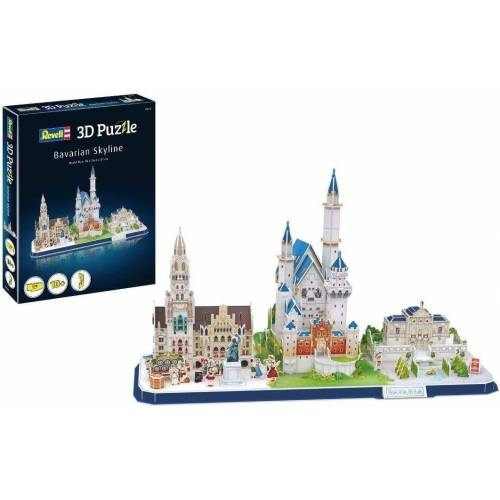 Revell® Steckpuzzle »Revell 3D Puzzle: Bayern Skyline«, 178 Puzzleteile