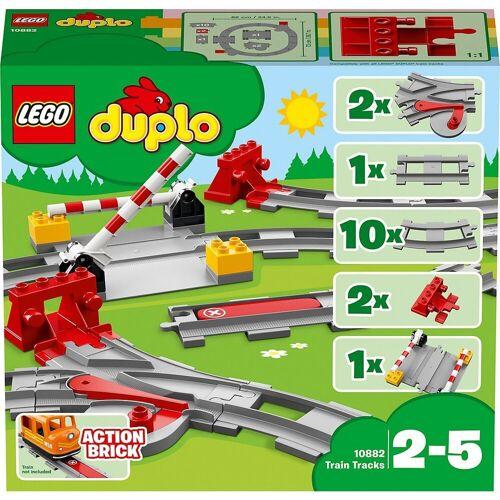 Lego Spielbausteine »DUPLO® 10882 Eisenbahn Schienen«