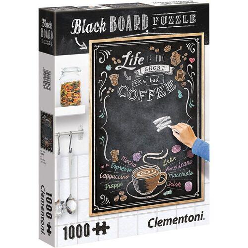 Clementoni® Puzzle »Puzzle 1000 Teile - Black Board Coffee«, Puzzleteile