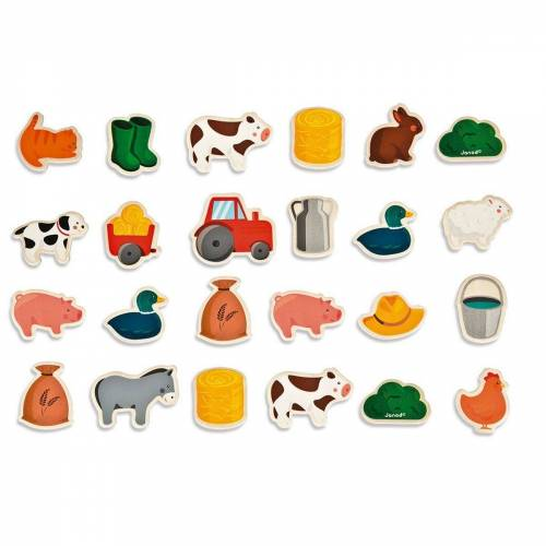 "Janod Puzzle »Magnetset ""Bauernhof"" 24 Teile«, Puzzleteile"
