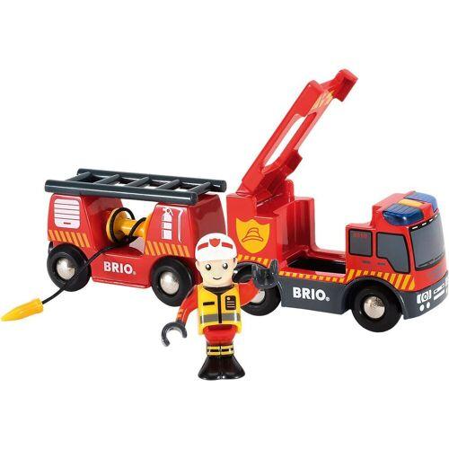 Brio Spielzeug-Eisenbahn »Feuerwehr-Leiterfahrzeug mit Licht & Sound«