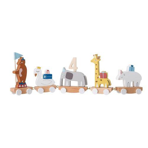 Bloomingville Kerzenhalter »Kerzenhalter Kinder-Geburtstagszug Happy Birthday«, Zirkus Bunt 50 cm x 15 cm