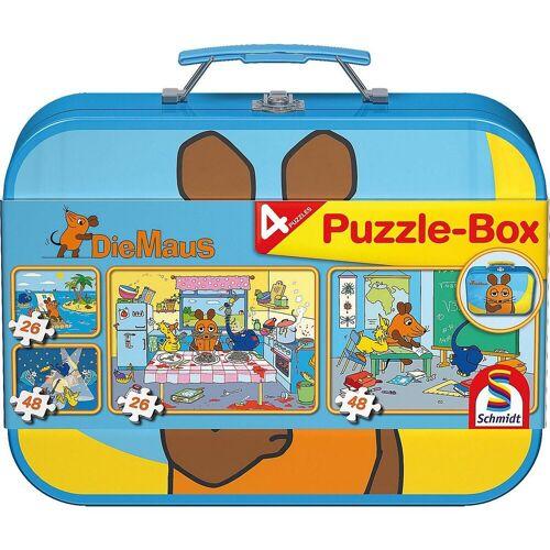 Schmidt Spiele Puzzle-Tasche »Puzzlekoffer 2 x 26 und 2 x 48 Teile Die Maus«