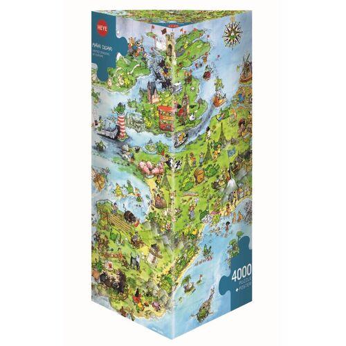 HEYE Puzzle »8854 Marino Degano United Dragons of Europe 4000 Teile Puzzle«, 4000 Puzzleteile
