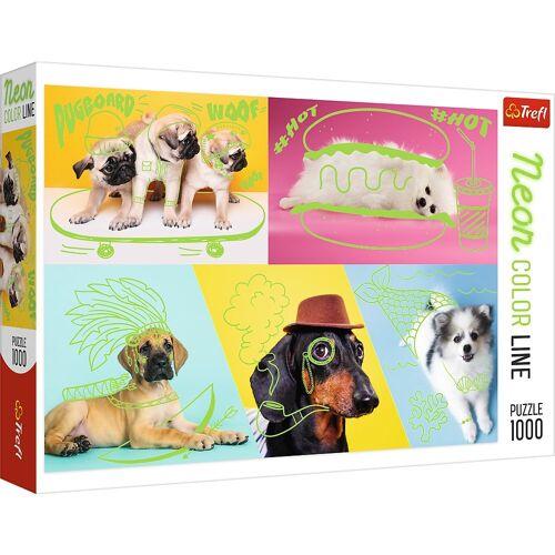 Trefl Puzzle »10578 Hunde 1000 Teile Neon Puzzle«, 1000 Puzzleteile