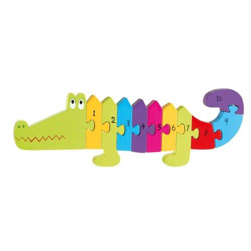 Nici Konturenpuzzle »Zahlenpuzzle Krokodil«, 11 Puzzleteile
