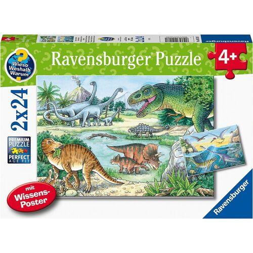 Ravensburger Puzzle »Puzzle Saurier und ihre Lebensräume, 2x20/2x24«, Puzzleteile
