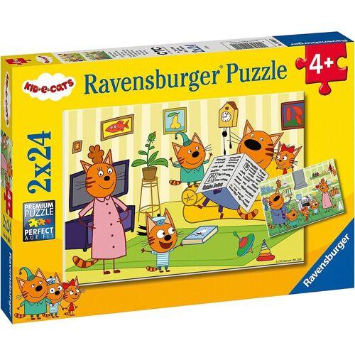 Ravensburger Puzzle »Puzzle Zuhause bei den Kid e Cats, 2x24 Teile«, Puzzleteile