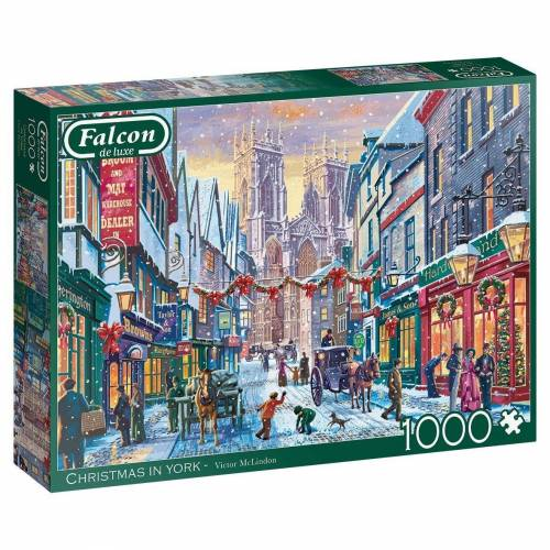 Falcon Puzzle »11277 Christmas in York 1000 Teile Puzzle«, Puzzleteile