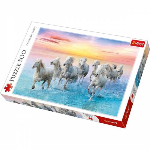 Trefl Puzzle »Puzzle 500 Teile - weiße Pferde«, Puzzleteile