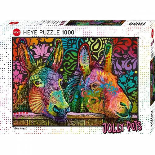 Huch! Puzzle »Puzzle Jolly Pets Donkey Love, 1.000 Teile«, Puzzleteile