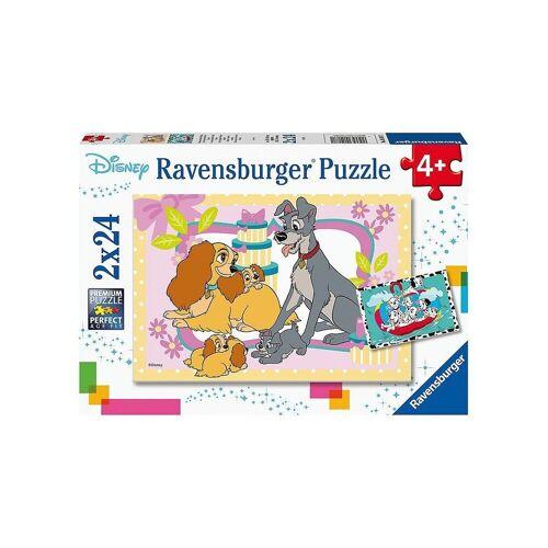Ravensburger Puzzle »Puzzle Disneys liebste Welpen, 2x24 Teile«, Puzzleteile
