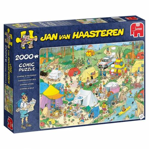 Jumbo Spiele Puzzle »19087 Jan van Haasteren Camping im Wald«, 2000 Puzzleteile