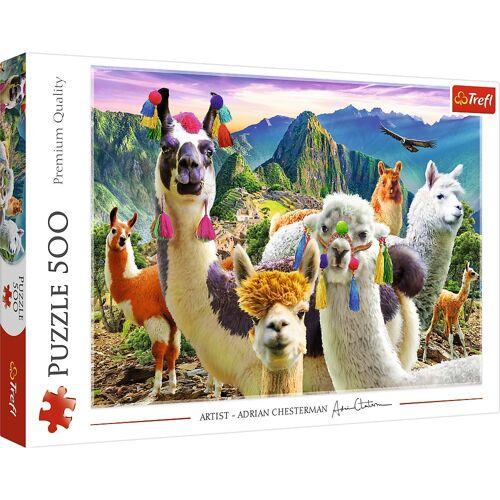 Trefl Puzzle »37383 Lamas in den Bergen 500 Teile Puzzle«, 500 Puzzleteile