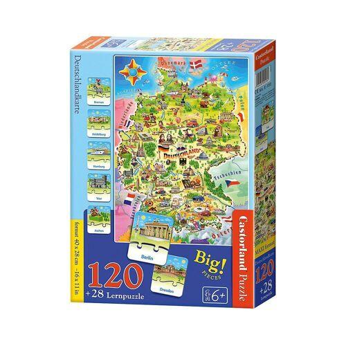 Castorland Puzzle »Lernpuzzle 120 + 28 Teile Deutschlandkarte«, Puzzleteile