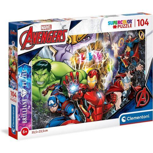 Clementoni® Puzzle »Puzzle 104 Teile, Brilliant Puzzle - Marvel«, Puzzleteile