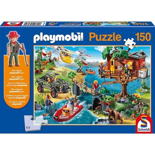 Schmidt Spiele Puzzle »Puzzle Playmobil (inkl. Figur), Baumhaus, 150«, Puzzleteile