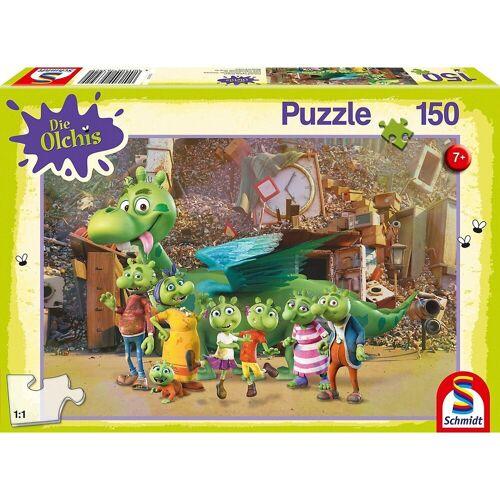 Schmidt Spiele Puzzle »Puzzle Die Olchis Die Olchis sind da!, 150 Teile«, Puzzleteile