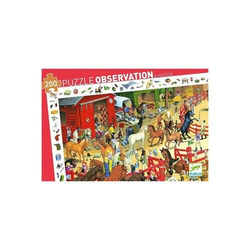 DJECO Puzzle »Wimmelpuzzle Pferde, 200 Teile«, Puzzleteile