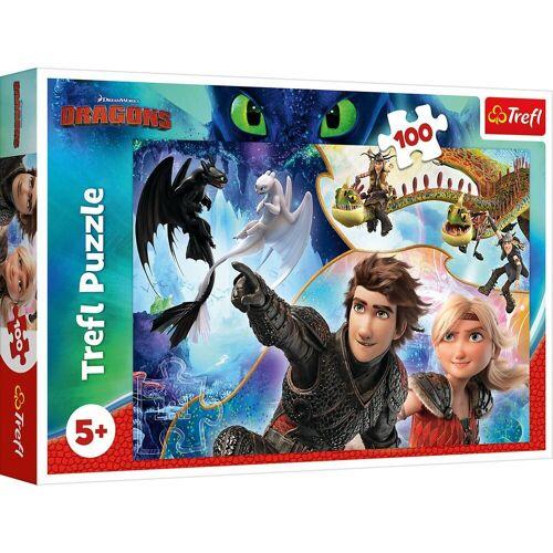 Trefl Puzzle »Puzzle How to train Your Dragon, 100 Teile«, Puzzleteile