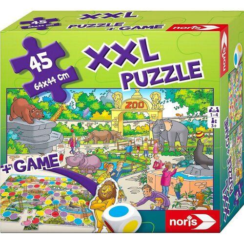 Noris Puzzle »XXL Puzzle Zoo 2 in 1 mit Spiel«, Puzzleteile