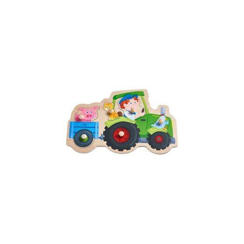 Haba Steckpuzzle »305550 Greifpuzzle Lustige Traktorfahrt, 6«, Puzzleteile