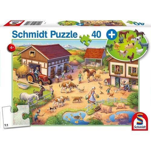 Schmidt Spiele Puzzle »Puzzle Lustiger Bauernhof inkl. Bauernhof-Set, 40«, Puzzleteile