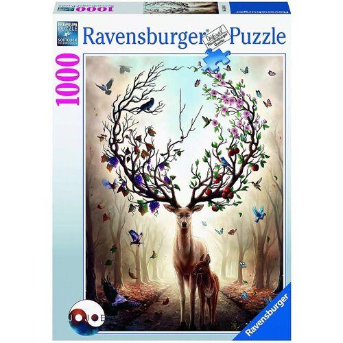Ravensburger Puzzle »Puzzle Magischer Hirsch, 1.000 Teile«, Puzzleteile