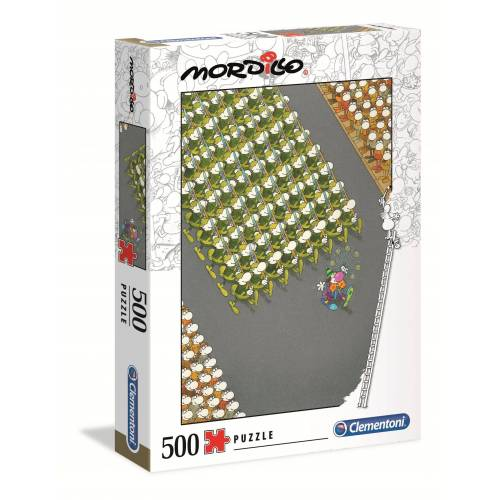 Clementoni® Puzzle »35078 Mordillo Der Marsch 500 Teile Puzzle«, 500 Puzzleteile