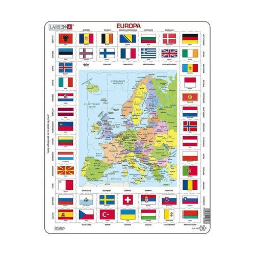 Larsen Puzzle »Rahmen-Puzzle, 70 Teile, 36x28 cm, Europa Länder &«, Puzzleteile