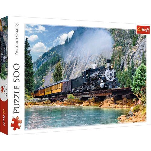 Trefl Puzzle »37379 Dampflok in den Bergen 500 Teile Puzzle«, 500 Puzzleteile
