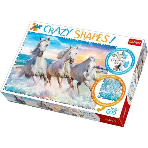 Trefl Puzzle »Crazy Puzzle - 600 Teile - Pferde«, Puzzleteile