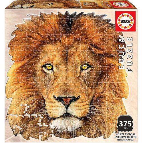 Educa Puzzle »Shape Puzzle Lion Face, 400 Teile«, Puzzleteile