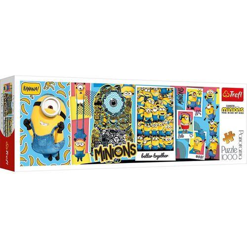 Trefl Puzzle »Panorama-Puzzle Minions, 1.000 Teile«, Puzzleteile