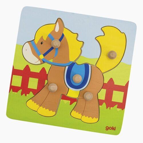 goki Konturenpuzzle »Puzzle Pferd«, 5 Puzzleteile