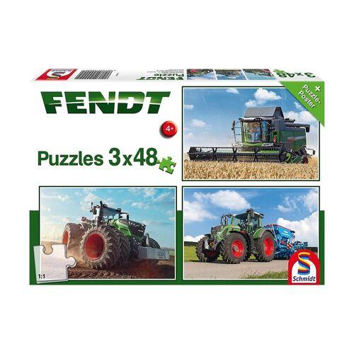 Schmidt Spiele Puzzle »Kinderpuzzleset 3 x 48 Teile, Traktor Fendt 1050«, Puzzleteile