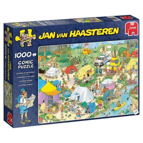 Jumbo Spiele Puzzle »19086 Jan van Haasteren Camping im Wald«, 1000 Puzzleteile