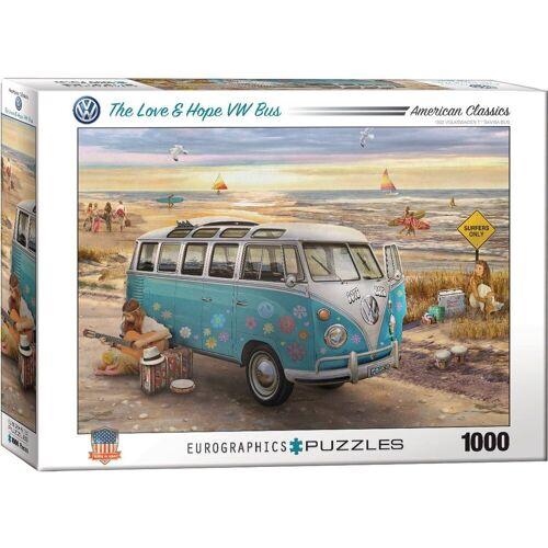 empireposter Puzzle »Der Liebe & Frieden VW Bus - 1000 Teile Puzzle - Grösse 68x48 cm.«, 1000 Puzzleteile