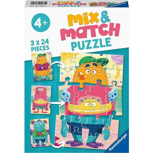 Ravensburger Puzzle »Puzzle 3x24 Teile- Lustige Monster«, Puzzleteile