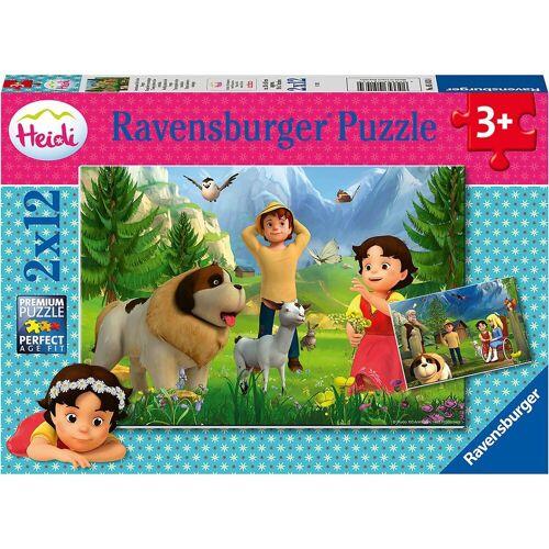 Ravensburger Puzzle »Puzzle Gemeinsame Zeit in den Bergen, 2 x 12 Teile«, Puzzleteile