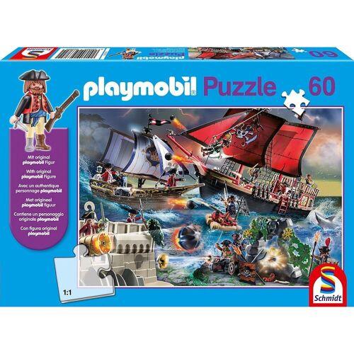 Schmidt Spiele Puzzle »Puzzle PLAYMOBIL® inkl. Playmobil-Figur, Piraten,«, Puzzleteile