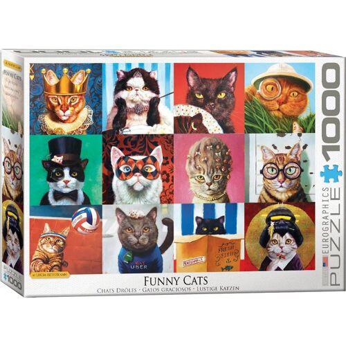 empireposter Puzzle »Lustige Katzen von Lucia Heffernan - 1000 Teile Puzzle - 68x48 cm«, 1000 Puzzleteile